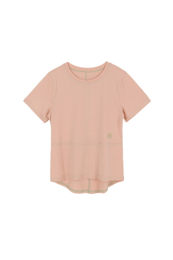 COLOR STITCH T-SHIRT_PEACH
