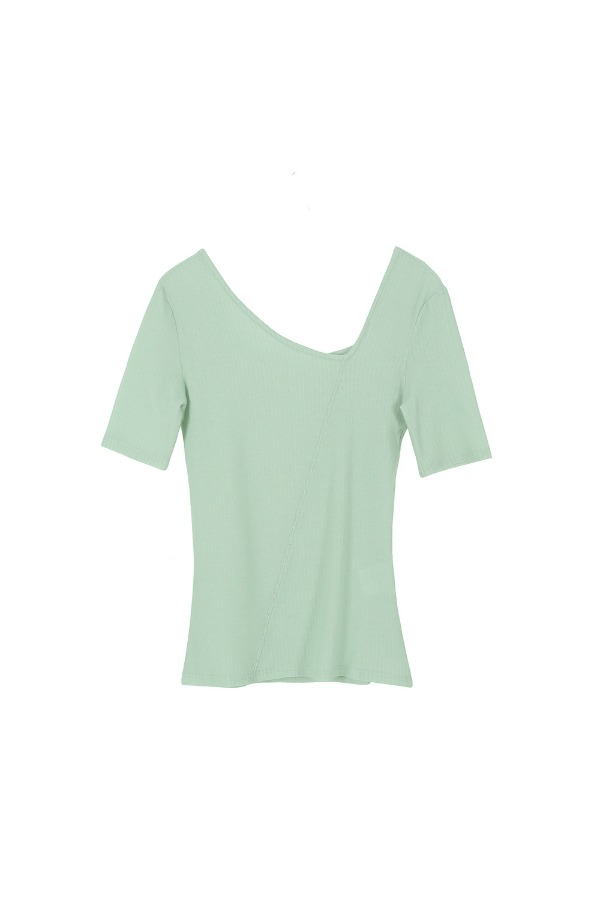 NECK POINT T-SHIRT_MINT