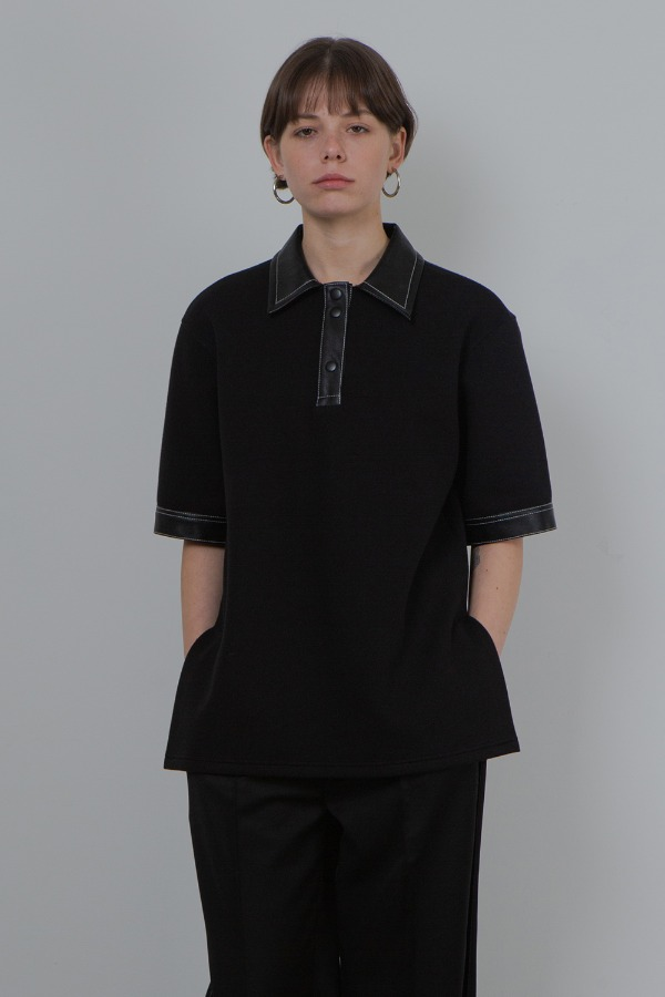 OVER-FIT POLO SHIRT_BLACK