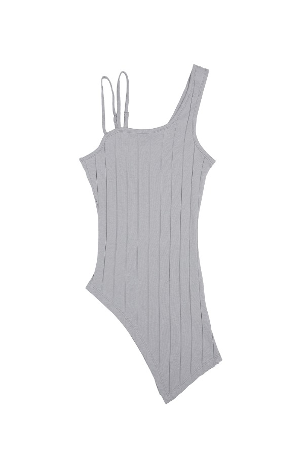 ASYMMETRIC TANK TOP_GREY