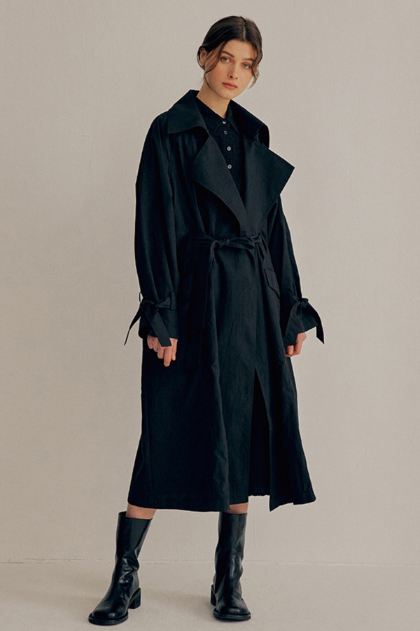 [3/2순차출고]CRINKLE OVERSIZE TRENCH COAT_BLACK