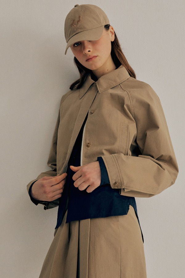 PLEATS BOMBER JACKET_BEIGE