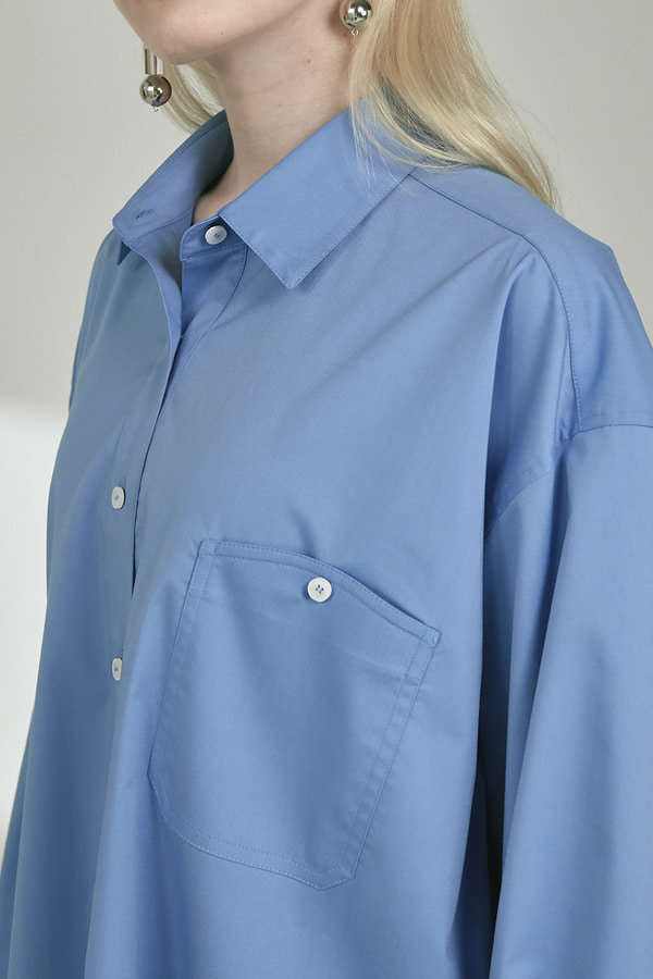 OVERFIT SHIRT :SKYBLUE