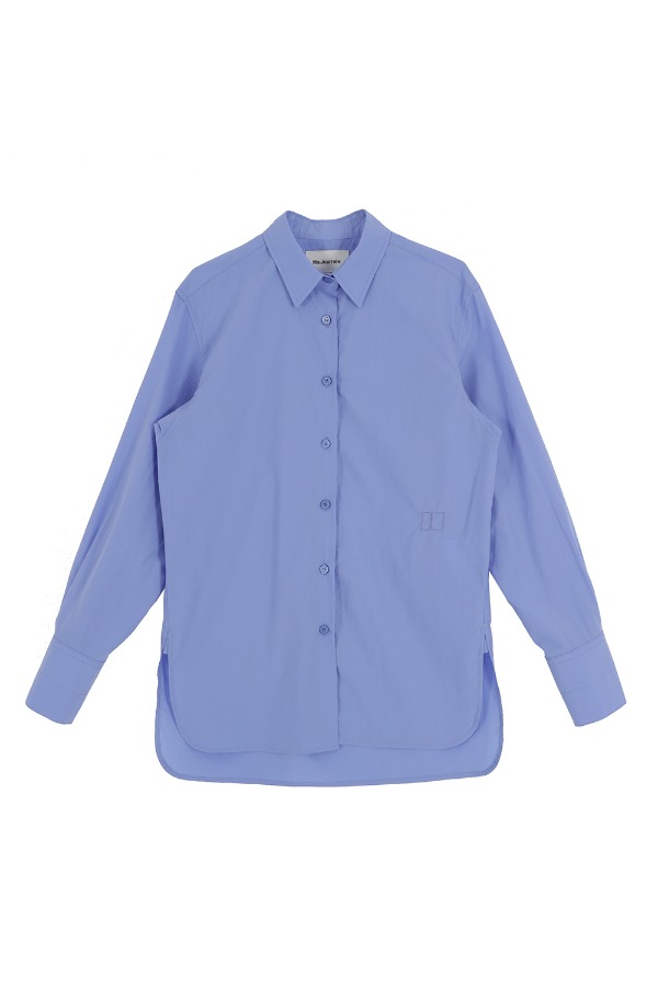 BASIC EMBROIDERY SHIRT_BLUE