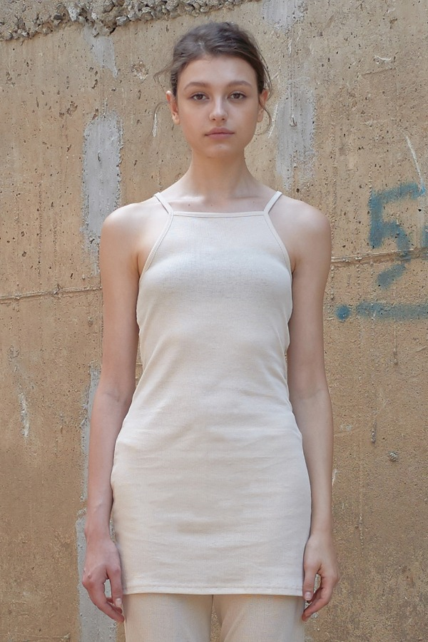 GOLGI SLEEVELESS ONE-PEICE_IVORY