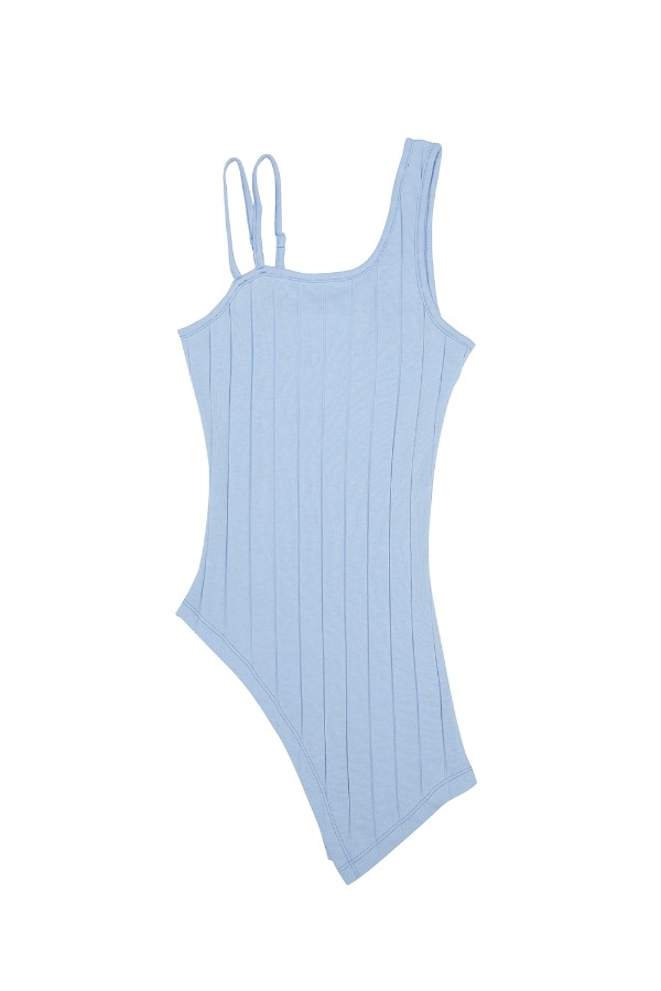 ASYMMETRIC TANK TOP_BABY BLUE