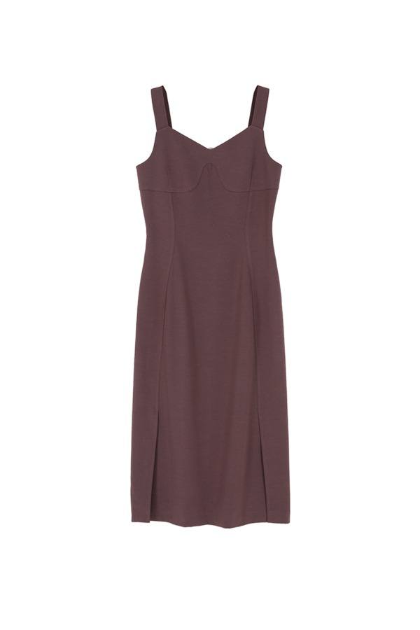 SLIM LINE ONE-PIECE_PINK BROWN