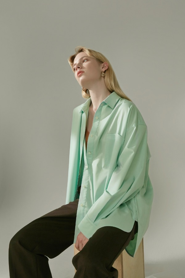 OVERFIT SHIRT :MINT