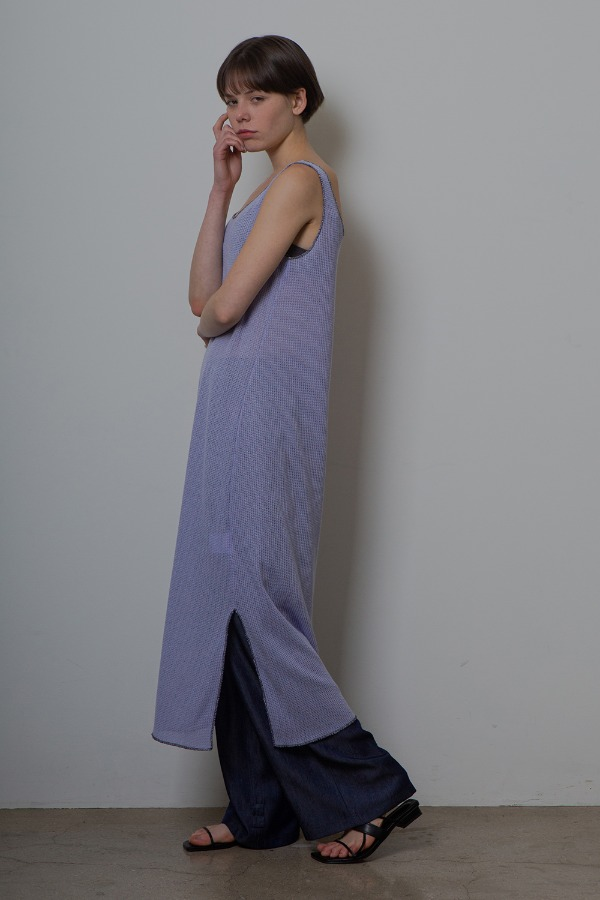 SLIT KNIT ONE-PIECE_VIOLET