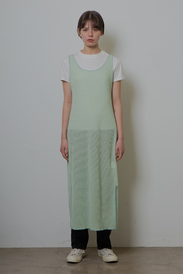 SLIT KNIT ONE-PIECE_MINT