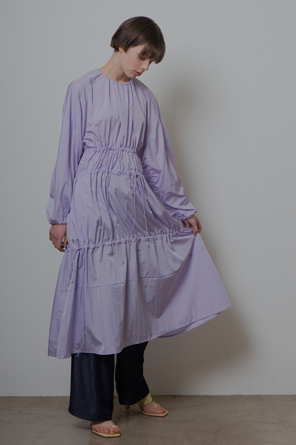STRING SHIRRING ONE-PIECE_VIOLET