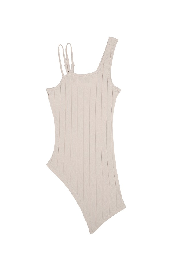 ASYMMETRIC TANK TOP_BEIGE