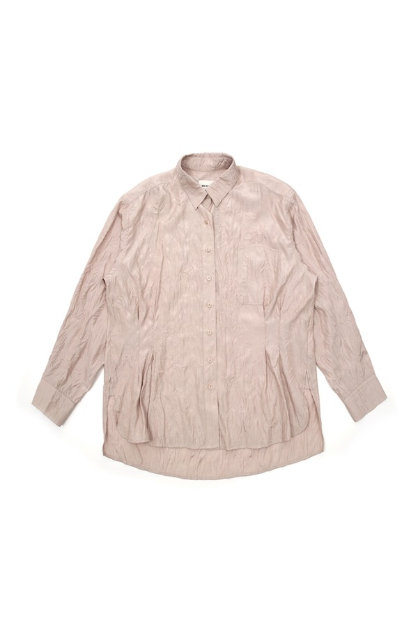 CRINKLE OVER SHIRT_BEIGE