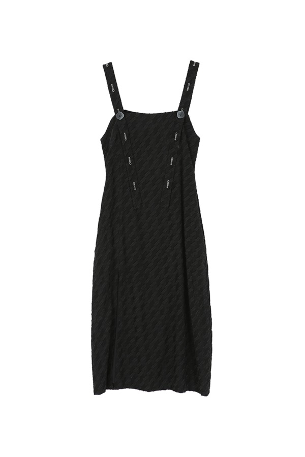 BUTTON ONE-PIECE_BLACK
