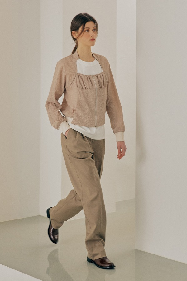 EASY STRAIGHT PANTS_BEIGE